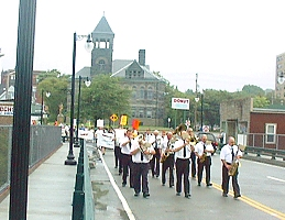 Labor Day parade on the new Court Street Bridge